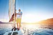 Leinwanddruck Bild - sunrise sailing boat