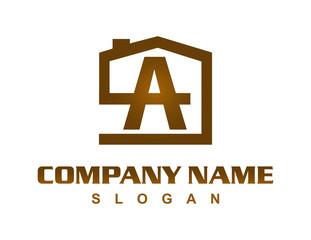 letter A house logo