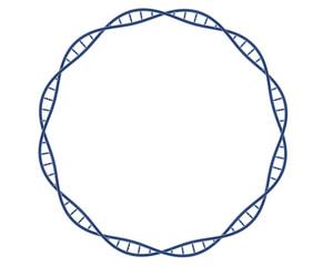 ADN en cercle sur fond blanc