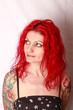 Portrait, Frau mit roten Haaren