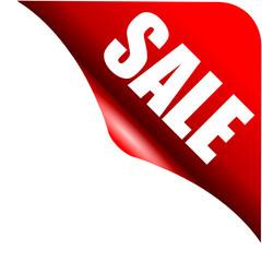 Perfekter Sale Button Ecke Rot