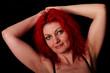 Portrait mit roten Haaren