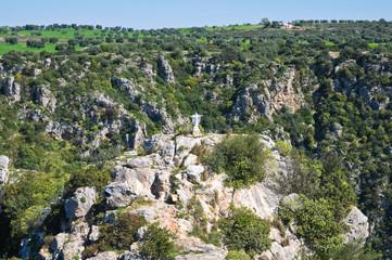 Ravine of Castellaneta. Puglia. Italy.
