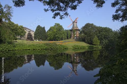 canvas print picture Mühle in der Hansestadt Bremen, Deutschland