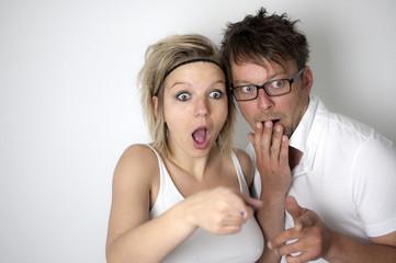 Schockiertes Paar