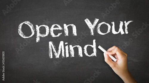 Open Your Mind Chalk Illustration