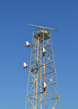 telecommunication antenna with radar