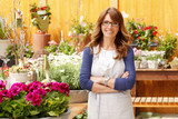 Smiling Mature Woman Florist
