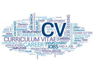 """CV"""" Tag Cloud (jobs recruitment employment candidate apply now)"""