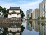 Moat and office building around the Imperial Palace, Tokyo