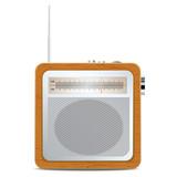 Square retro radio