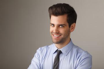 Close- up portrait of a young businessman