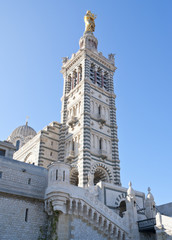 The bell tower of Notre-Dame de la Garde, Marseille