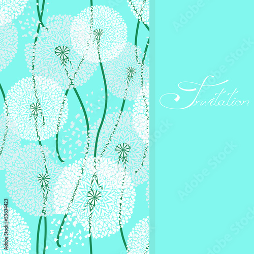 Background with lacy dandelions