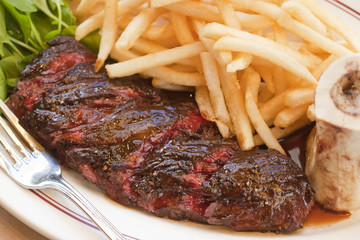 hanger steak with fries