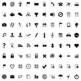 Icons for web white stickers