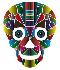 teschio creato da colori con occhi