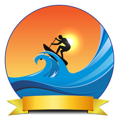 surf padlling