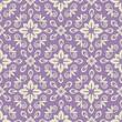 Seamless violet and light damask pattern