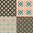 Seamless decorative pattern with ornament