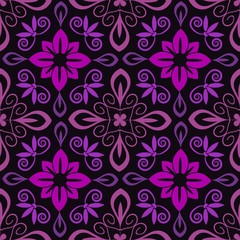 Seamless ornamental decorative pattern