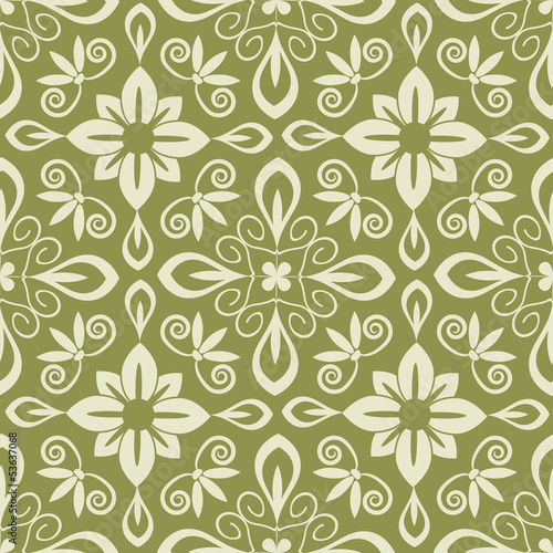Seamless pastel abstract floral pattern