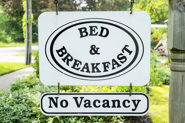 Bed & Breakfast Sign in a Residential Area