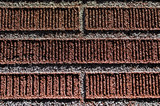red brick wall detail