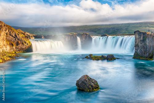 Fototapeten,wasserfall,island,icelandic,cascade