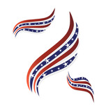USA flags symbol logo vector