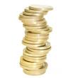 1 Euro Münzen aufgestapelt