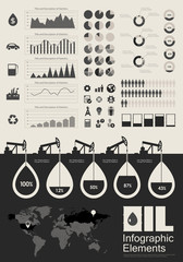 Oil Industry Infographic Elements