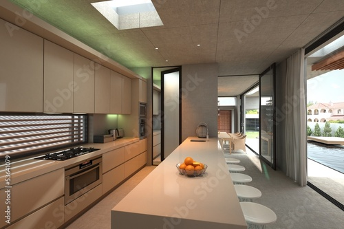 Modern luxury loft kitchen interior