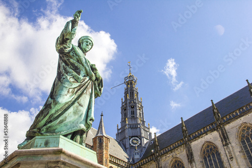 Market square in Haarlem, Holland