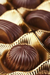 Box with chocolate pralines