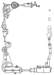 Schmuckrahmen Steampunk1