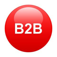 bouton internet B2B icon red