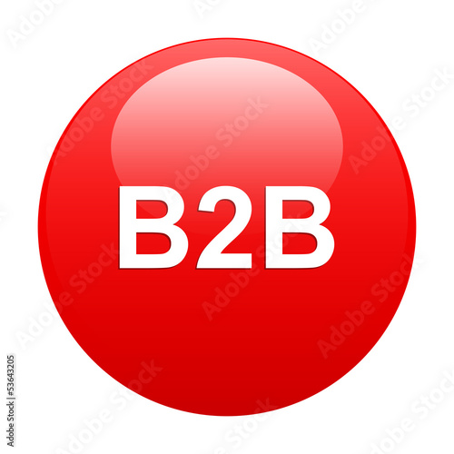 bouton internet B2B icon red