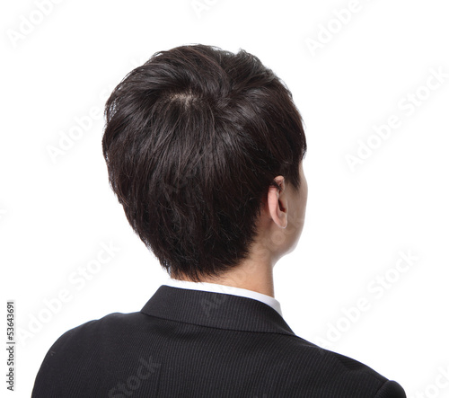 business man look copy space from back