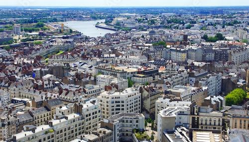 Fotobehang Luchtfoto centre ville de Nantes