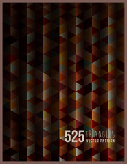 525 Triangle, vector pattern.
