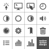 Settings icon set