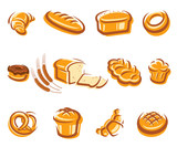 Bread set. Vector