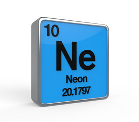 Neon Element Periodic Table