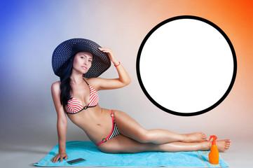 girl on a beach towel