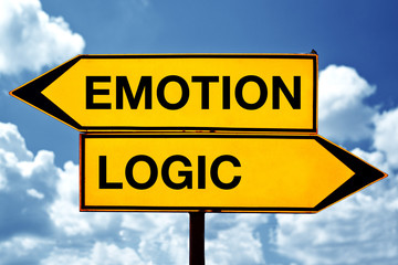Emotion or logic, opposite signs