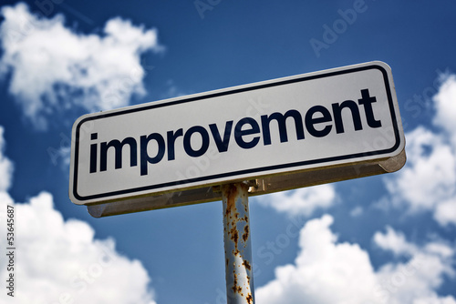 Improvement street sign