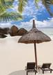 coin détente sur plage des Seychelles