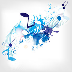 abstract musical background with notes © 32 pixels