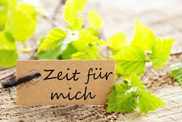 label with Zeit fuer mich